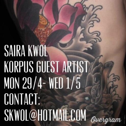 Korpus Guest Artist- Saira Kwol